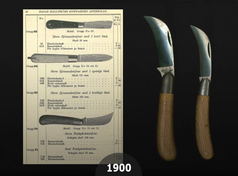 1900 EKAs 1st gardening knives series