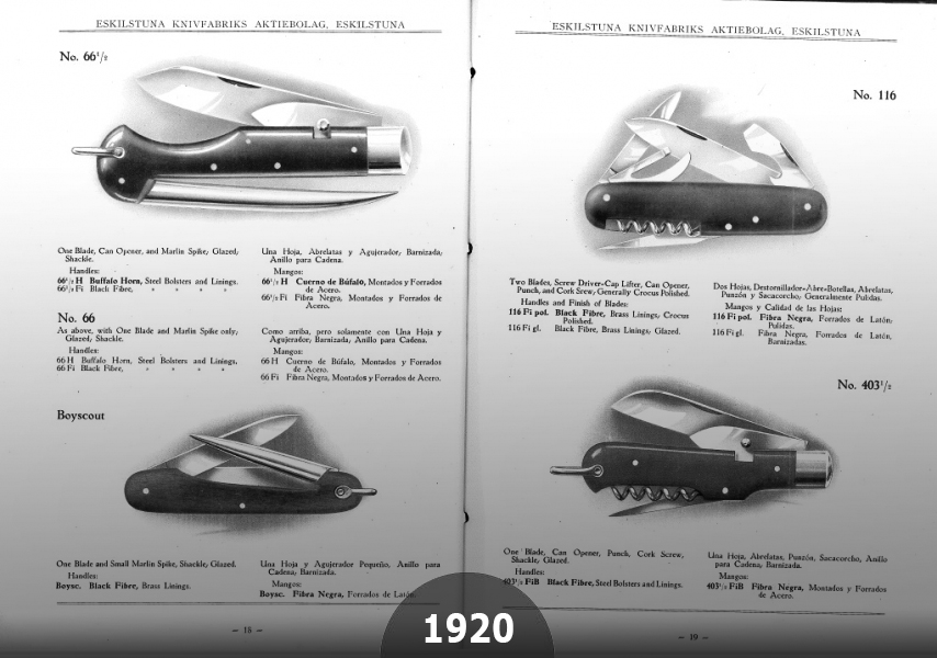 1920 EKAs model 116 became one of the most popular pocket knives worldwide