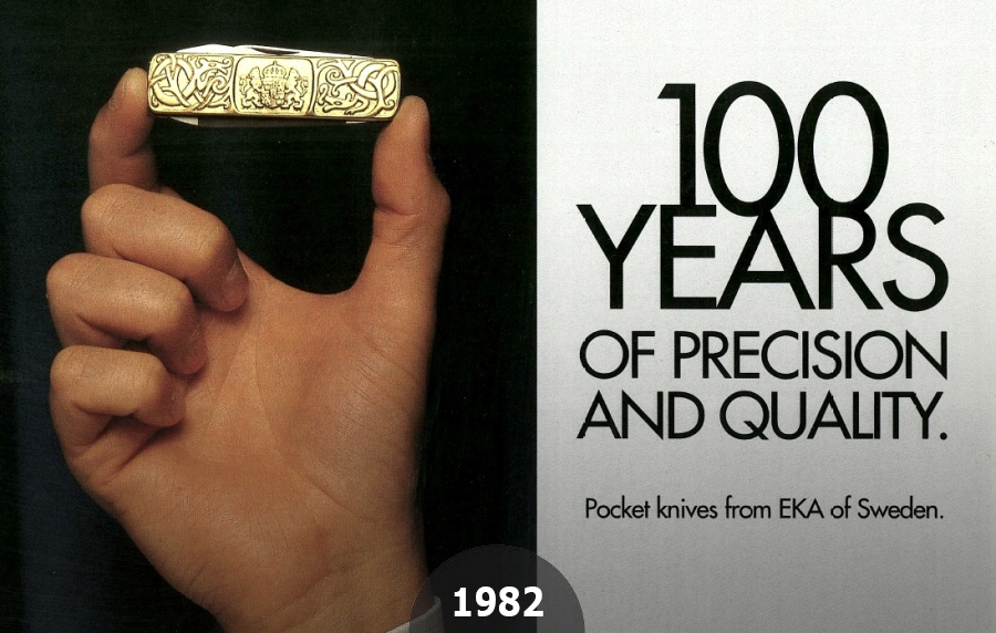 1982 EKAs 100 year anniversary crowned by a Classic 6 made of solid gold