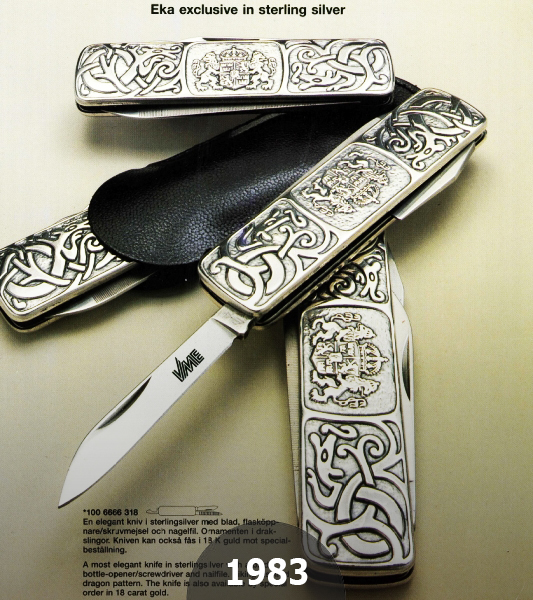 1983 EKAs exclusive Classic 6 in Sterling Silver scaled by the Viking Inspired Dragon Pattern