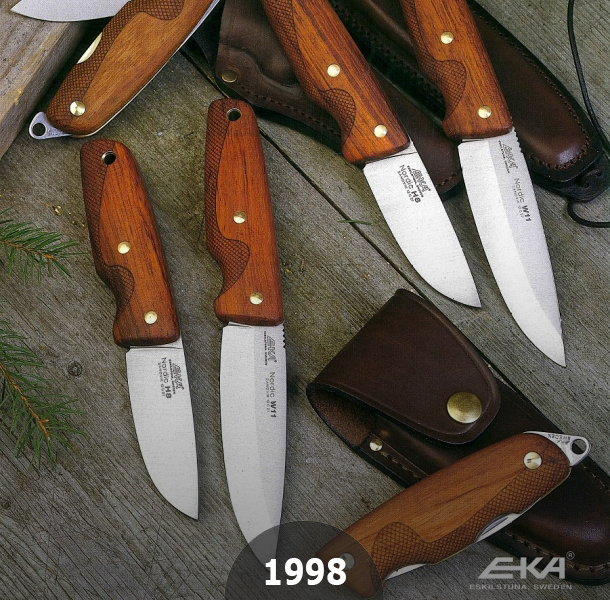 1998 EKAs Nordic Series optimal knives collaborated with Swedish Hunters and Survival Instructors
